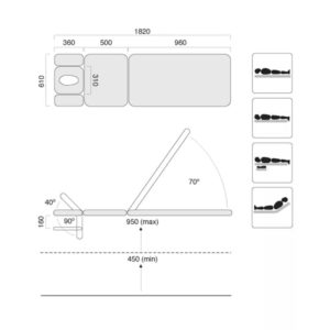 Treatment Table Three Section Southern Cross Specification