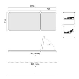 Examination Table Two Section Evo2 Specifications