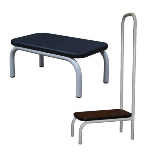 Step Up Stool With Powder Coated Frame And Step With Powder Coated Frame With Handrail Dal1061