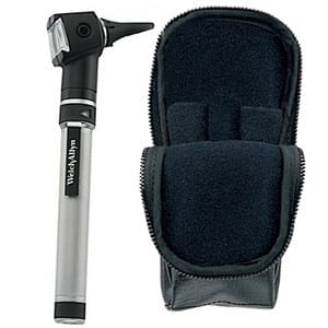 """Welch Allyn Pocketscope Otoscope With """"Aa"""" Handle And Soft Case"""