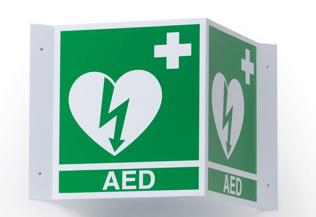 Zoll Aed Ilcor Wall Sign 3D