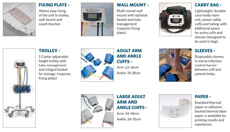 Huntleigh Abi Dopplex Ability Automatic Brachial Index System Accessories &Amp; Consumables
