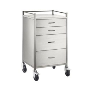 Anaesthetic Trolley Stainless Steel 4 Four Draw