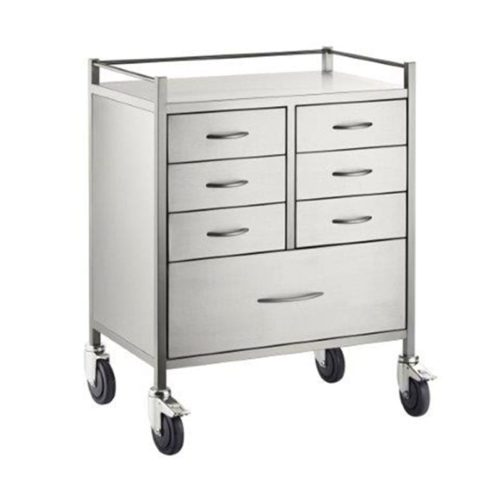 Resuscitation Trolley Stainless Steel 7 Seven Draw