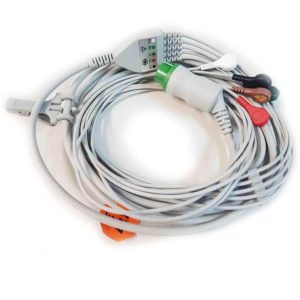 Biolight 5 lead Snap Connector ECG Cable AHA 5pin for M8500
