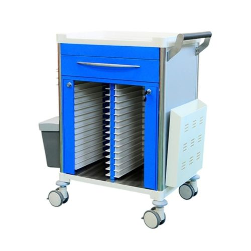 Medical-Record-Trolley-With-Draw