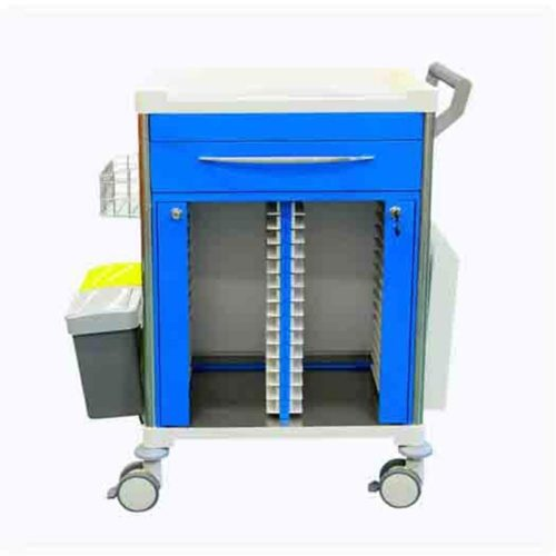 Medical Record Trolley With Draw Side