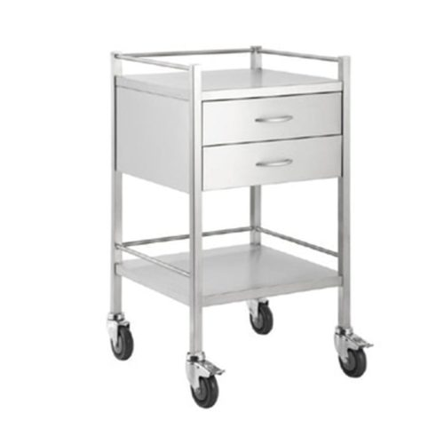 Double-Stainless-Steel-Dressing-Trolley