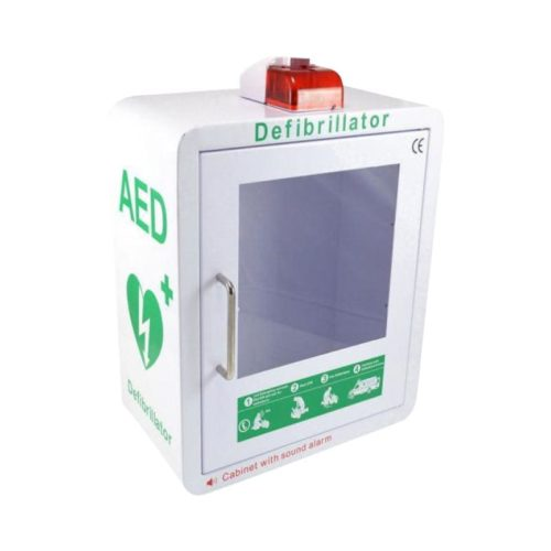 Aed Cabinet Green &Amp; White With Strobe Light &Amp; Alarm