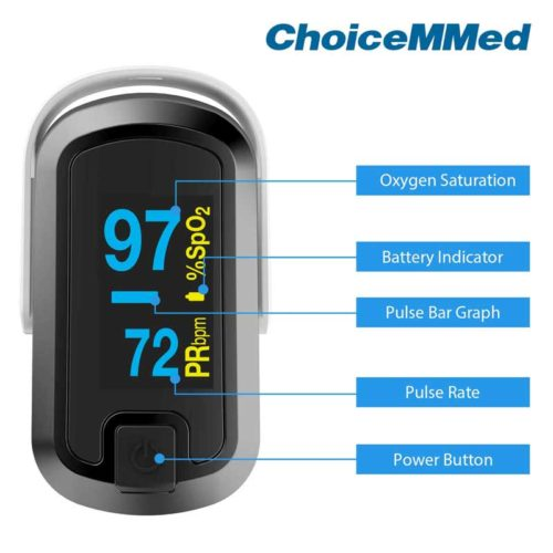 Choicemed Cn340 Adult Finger Pulse Oximeter Features